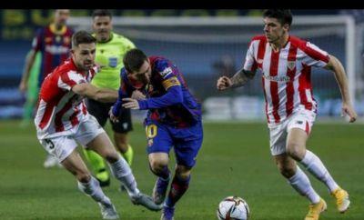 Messi Dikartu Merah Barca kalah 3-2, Athletic Bilbao Juara Piala Super Spanyol