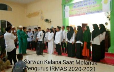 Sarwan Kelana Lantik Pengurus Remaja Masjid As Sakinah